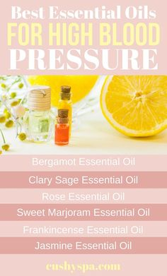 Best Essential Oils for High Blood Pressure Need some high blood pressure remedies? Here are 8 essential oils for high blood pressure.Need some high blood pressure remedies? Here are 8 essential oils for high blood pressure. Marjoram Essential Oil, Jasmine Essential Oil, Clary Sage Essential Oil, Best Essential Oils, Natural Health Remedies, Herbal Remedies, Cold Remedies, Dr Oz, Protein