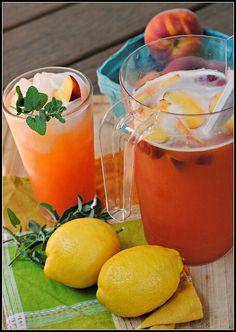 ... peach lemonade peaches roughly lemonade beverages recipes beverage