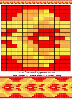 Red Snake Loom beading pattern - FREE BEADWORK DESIGN