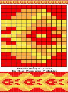 Red Snake Loom beading pattern - FREE BEADWORK DESIGN