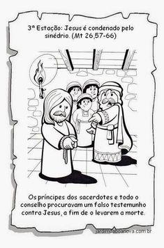 Jardim da Boa Nova: Via Sacra Religion, Jesus Cristo, Comics, How To Make, History Of Easter, Sunday School Kids, Catechism, Sunday School, Crafts