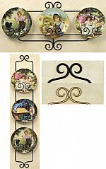 Plate Hangers - Wrought Iron Three Place  sc 1 st  Pinterest & plate hangers for large plates | Great for plate sizes 8.25