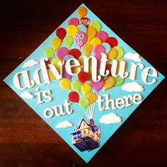 Disney Pixar UP inspired graduation cap!