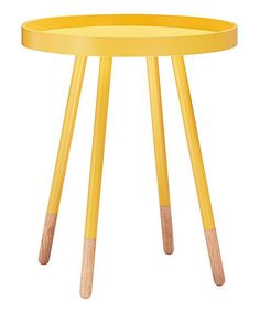 Look what I found on #zulily! Yellow Priscilla Tray-Top Side Table #zulilyfinds