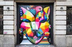 Street Art by Okuda in Soho, New York, USA 2015 433