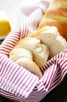 Homemade French Bread is surprisingly easy to make! And there's nothing quite like a warm loaf fresh out of the oven.
