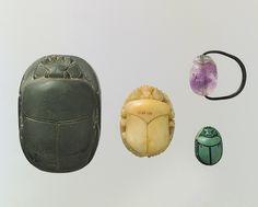 Scarab ring, Dynasty 12 (ca. 1981–1802 b.c.) Egyptian Amethyst, copper