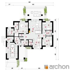 Dom w akebiach 6 Village House Design, Village Houses, Classic House Design, My Dream Home, House Plans, Floor Plans, How To Plan, Building, Architectural House Plans