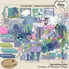 Sprinkling Mist by Artgal Style  @Plaindigitalwrapper.com