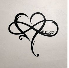 Metal Infinity Symbol with Heart and Custom Wedding Date Wall Decor Wedding Gift for Couple Personalized Anniversary Gift Heart Infinity - Tattoos - Tatouage Hawaiianisches Tattoo, Tattoo Hals, Wrist Tattoos, Finger Tattoos, Body Art Tattoos, Tatoos, Ankle Tattoo, Neck Tattoos, Tattoo Crown