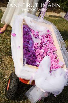 Idea for my cousin's wedding for little Brooklyn. So cute!