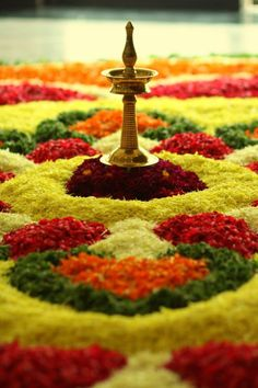 Onam is the biggest festival in the Indian state of Kerala. It falls during the first month of the Malayalam calendar, which is Chingam (August–September), and marks the homecoming of the legendary King Mahabali. The festival lasts for ten days and is linked to many elements of Kerala's culture and tradition. Intricate flower carpets, elaborate banquet lunch, snake boat races, Puli Kali and the kaikottikkali dance all play a part in the festival.