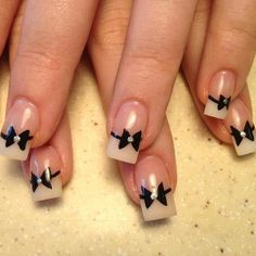 mr. nail art - id like dark grey bows...