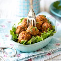 Helpot texmex-lihapullat Falafel, Tex Mex, Food Inspiration, Potato Salad, Cauliflower, Food And Drink, Chicken, Meat, Baking
