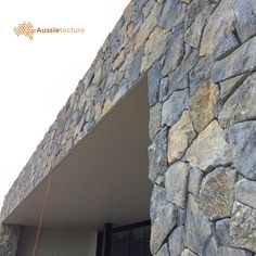 Up to 150mm high and 550mm wide. 30mm to 40mm thick.  Corners – Up to 350mm high and 220mm long Stone type – Schist. Finish – Split face with a sawn back.   Random irregular shapes. Eyre can be laid dry stacked with tight joints or grouted. Dry stacked joints should be no greater than 3mm therefore the stone needs to be modified on site by stonemasons. When selecting Eyre we try to go for natural shapes and tones in order to replicate and reflect on a natural environment Natural Stone Cladding, Natural Stone Wall, Stone Facade, Stone Supplier, Wall Cladding, Natural Shapes, Cool Walls, Habitats, Landscape