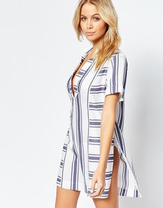 perfect beach cover up, stripe dress, vacation