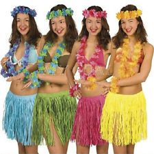 ab8da25f 5pcs Hawaiian Luau Garland Headband Wristband Party Hula Skirt Fancy Dress  Grass Ideas Para Fiestas,