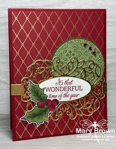 – Sketch Inspiration (Create with Connie & Mary) Stamped Christmas Cards, Christmas Paper Crafts, Homemade Christmas Cards, Stampin Up Christmas, Christmas Cards To Make, Xmas Cards, Homemade Cards, Handmade Christmas, Holiday Cards