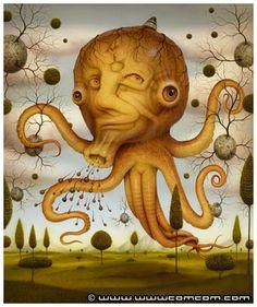 Naoto Hattori  octopus_love.jpg (360×430)