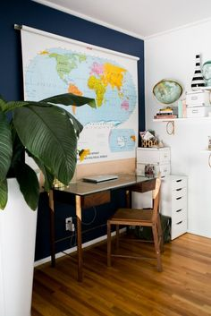 home office — Chris and Amber's Old + New Renovated Home | Apartment Therapy