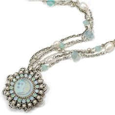 Sweet Romance Vintage Aurora Opal Moon Silver Necklace ($54) ❤ liked on Polyvore featuring jewelry, necklaces, silver, cameo pendant necklace, silver pendant necklace, opal necklace, silver star pendant and vintage cameo pendant