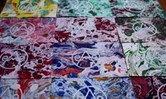 Screenprinting on marbled paper