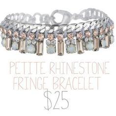 Bridesmaid gift anyone?? Petite fringe bracelet now $25 (40% off) until July 7th!!!