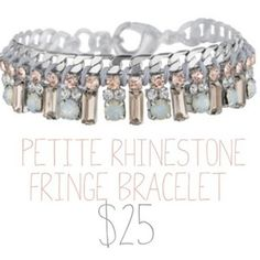 Bridesmaid gift anyone?? Petite fringe bracelet now $25 (40% off) until July 7th!!!