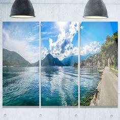 Designart - Kotor Bay on Summer Day Panorama - Landscape Glossy