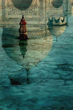 Taj Mahal Reflection by Bosta Sever. The Taj Mahal does not disappoint . Taj Mahal India, Le Taj Mahal, India India, Rajasthan India, Delhi India, What A Wonderful World, Beautiful World, Beautiful Places, Beautiful Pictures
