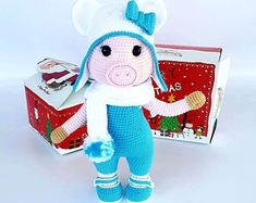 Items similar to Christmas crochet pink pig Animal knit toy Knitted doll ballerina Eco friendly soft gifts for children Knit pig gift Handmade home decor on Etsy Knitted Dolls, Crochet Toys, Christmas Sale, Christmas Ornaments, Handmade Home Decor, Handmade Gifts, Cute Dolls, Gifts For Kids, Hello Kitty