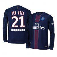 PSG Home 16-17 Season LS #21 Arfa Blue Soccer Jersey