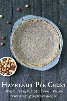 Hazelnut Pie Crust {Paleo, Gluten Free, Grain Free, Dairy Free} from www.EverydayMaven.com