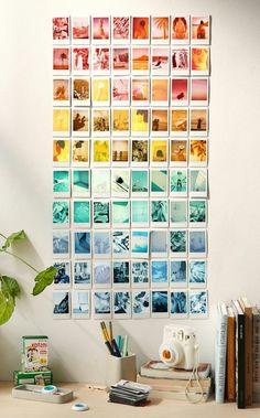 Fotocollage Regenbogen Aus Bildern In Unterschiedlichen Farben Und Farbnuancen