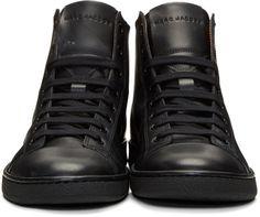 Marc Jacobs - Black Logo High-Top Sneakers