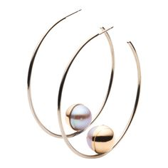 Melanie Georgacopoulos - Dealing primarily with pearls, diamonds and precious metals, Melanie Georgacopoulos is known for applying a modern approach to classic materials.Availability: Melanie Georgacopoulos Large Hoop Earrings ($3,220).
