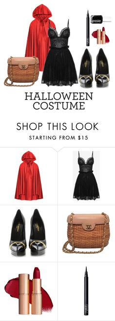 """Little Red Riding Hood.  Halloween costume"" by stuart-l ❤ liked on Polyvore featuring Alexander McQueen, Yves Saint Laurent, Chanel, NARS Cosmetics, Essie, halloweencostume and DIYHalloween"