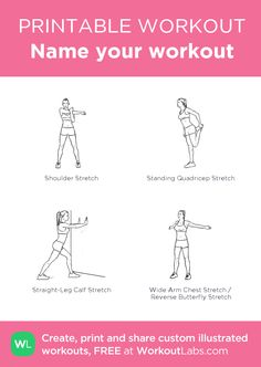 Name your workout – my custom workout created at WorkoutLabs.com • Click through to download as printable PDF! #customworkout