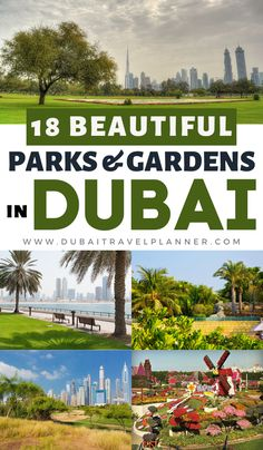 Parks and gardens in Dubai? You me surprised by just how many beautiful parks and gardens are spotted around the mega city in the desert. From municipality play parks to fitness favourites and beach side cabanas for rent, here's our pick of the best parks and gardens to enjoy across the city of Dubai. Dubai Vacation Ideas. Visit Dubai. Dubai Travel Blog. Dubai Vacation, Dubai Travel, Asia Travel, Travel Tips, Dubai Attractions, Romantic Escapes, Visit Dubai, Beautiful Park, Travel Planner
