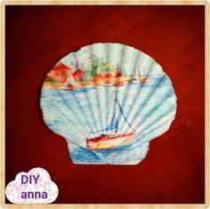 decoupage seashell ideas DIY decorations craft tutorial / URADI SAM Dekupaž