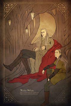 Thranduil and Legolas: Private conversation by Kinko-White.deviantart.com on @deviantART