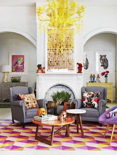 Love the colour interiors in the this photo shoot  Fenton & Fenton Rugs post in The Design Files