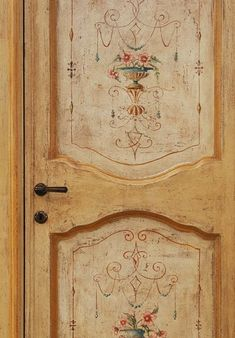 Reproduction of Antique Italian Painted Door 07