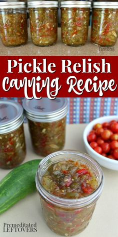 Cucumber Relish Recipes, Cucumber Canning, Jelly Recipes, Sweet Pickle Recipes, Pickling Cucumbers, Chili Recipes, Veggie Recipes, Ball Canning Recipe, Home Canning Recipes