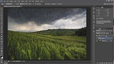 Adobe Photoshop CS6 Tamil Tutorial - How to Create Rain Effect Tutorial