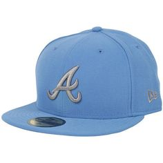 a405a29b54c6 NEW ERA Atlanta Braves Seas Cont Cap afblu stgry ❤ liked on Polyvore  featuring accessories