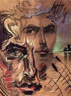 "Witkacy ""Portret Tadeusza Ficowskiego"" Cesar Santos, Joe Cocker, Rene Magritte, Cubism, Beauty Art, Great Friends, Illustration Art, Illustrations, Art Pieces"
