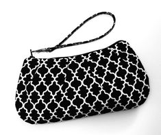 Black & White Zip and Go Wristlet by SweetPeaTotes on Etsy, $26.00