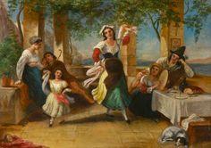Neapolitans Dancing the Tarantella by Thomas Uwins (British 1782–1857)