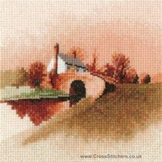 Lock Keeper's Cottage - John Clayton Miniatures Cross Stitch Kit from Heritage Crafts
